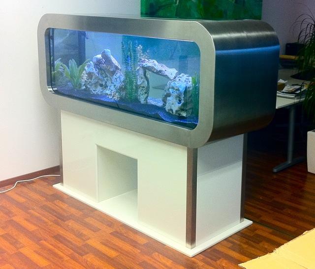 Frontosa Disgn Aquarium Aus Edelstahl Und Klavierlack Weiss